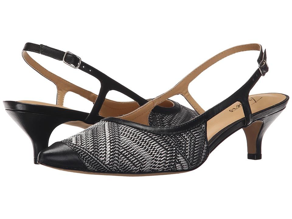 Trotters - Kimberly (Black White Multi/Black Multi Weave Textile/Burnished Vegetable) Women's Slip-on Dress Shoes