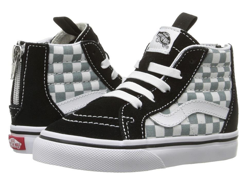 Vans Kids - Sk8-Hi Zip (Toddler) ((Checkerboard) Black/Citadel) Boys Shoes
