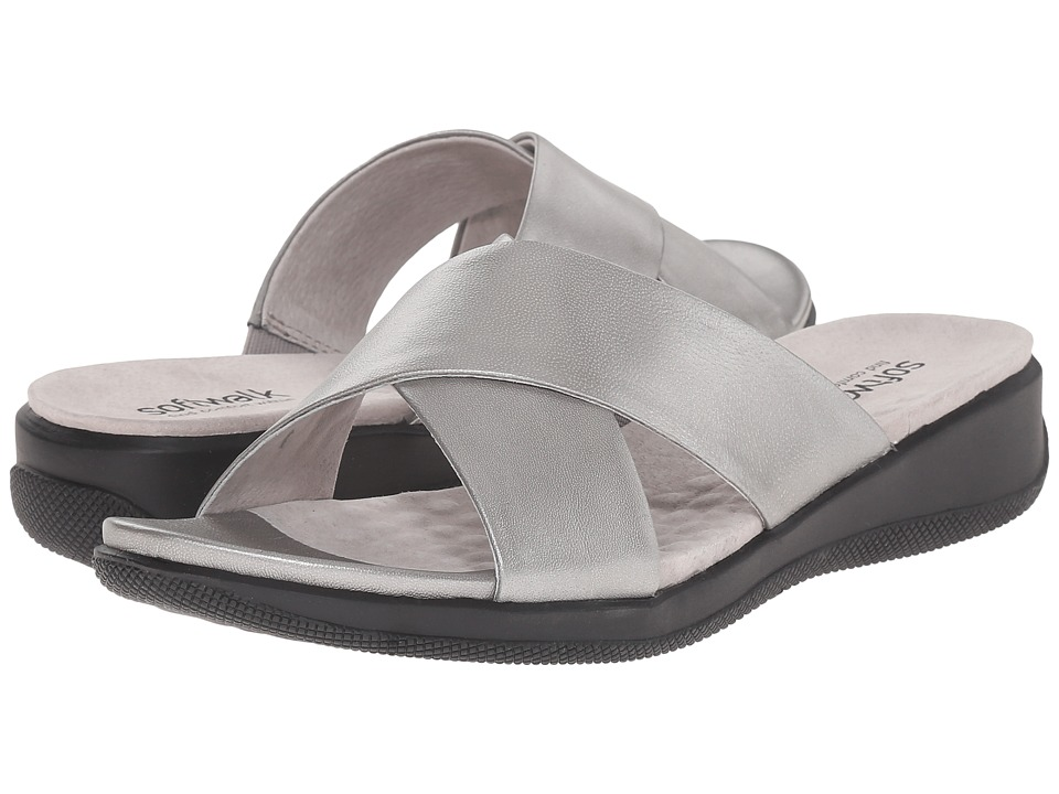 SoftWalk - Tillman (Pewter Soft Nappa Leather) Women