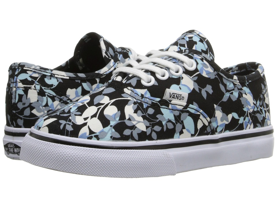 Vans Kids - Authentic (Toddler) ((Reverse Floral) Black/True White) Girls Shoes