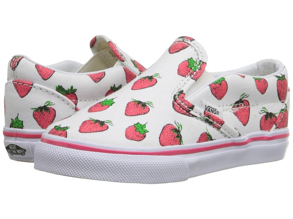Vans Kids - Classic Slip-On (Toddler) ((Strawberries) True White) Girls Shoes