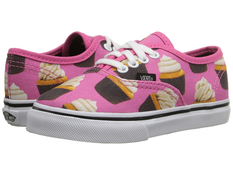 Vans Kids - Authentic (Toddler) ((Late Night) Hot Pink/Cupcakes) Girls Shoes
