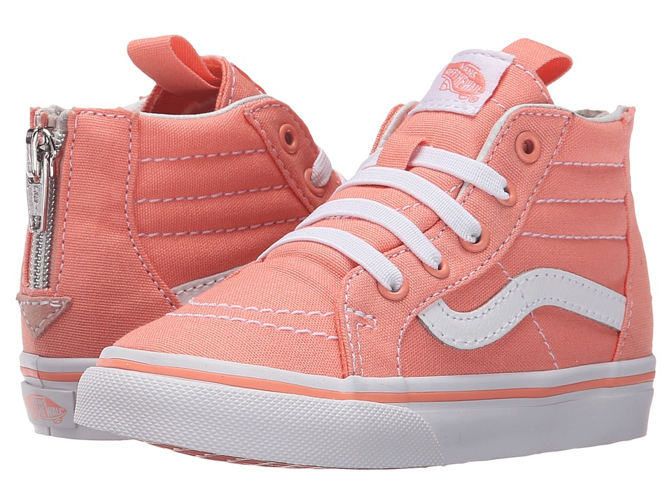 Vans Kids - Sk8-Hi Zip (Toddler) (Desert Flower/True White) Girls Shoes