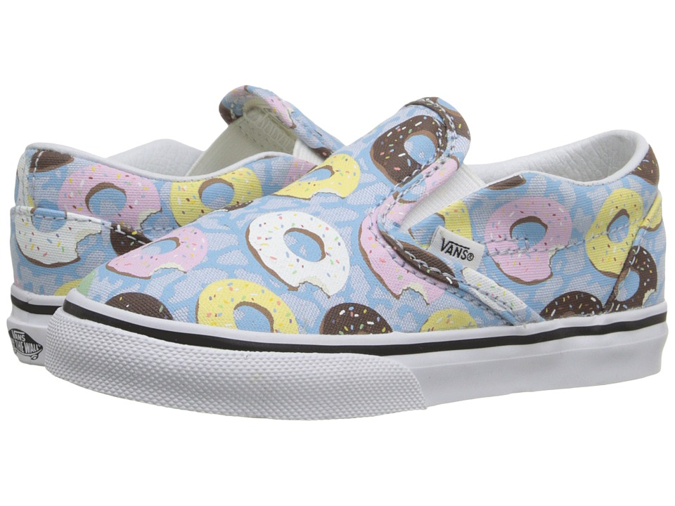 Vans Kids - Classic Slip-On (Toddler) ((Late Night) Skyway/Donuts) Girls Shoes