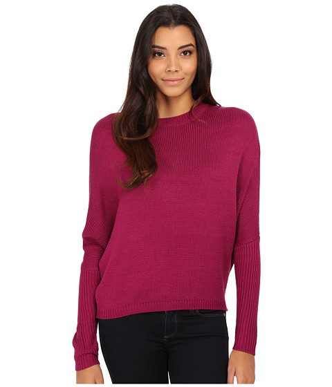 Olive & Oak - Dolman Ripped Back Sweater (Dried Berry) Women's Sweater