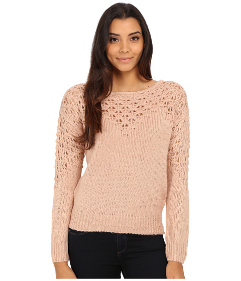 Olive & Oak - Open Stitch Pullover (Ballet Pink) Women's Sweater