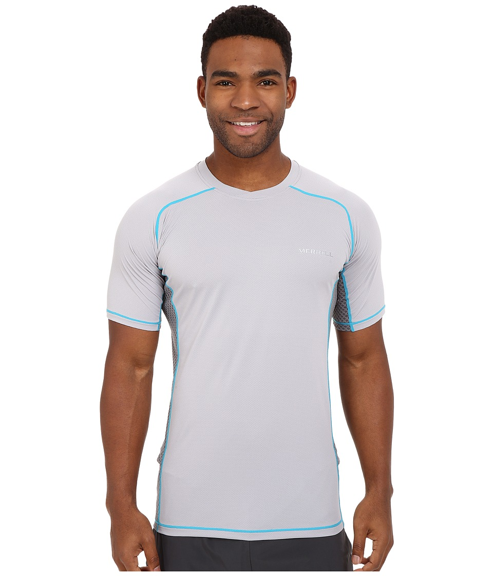 Merrell - Elevated Tee (Ash) Men's Short Sleeve Pullover