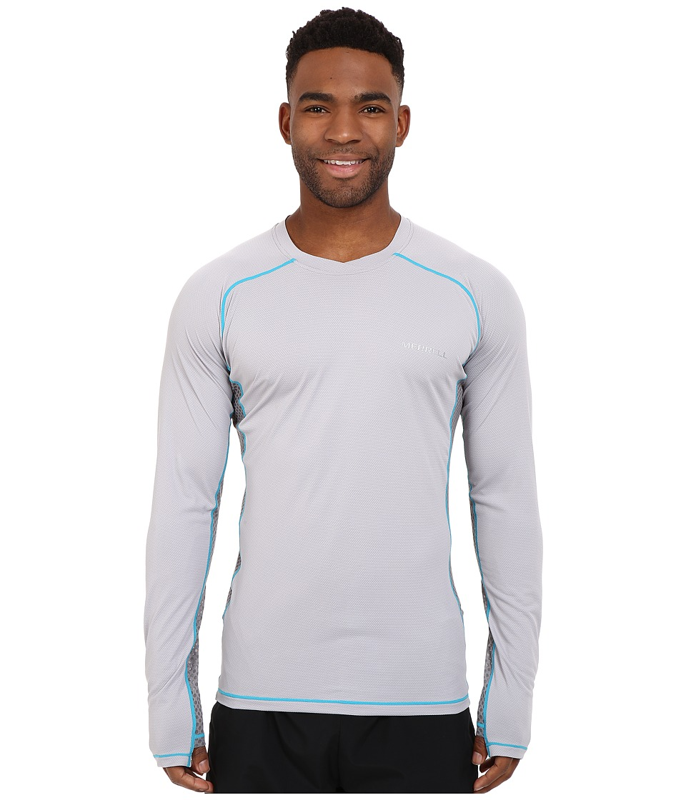 Merrell - Elevated Long Sleeve Tee (Ash) Men's Long Sleeve Pullover