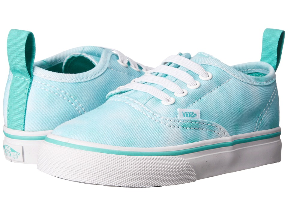 Vans Kids - Authentic V Lace (Toddler) ((Tie Dye) Turquoise) Girls Shoes