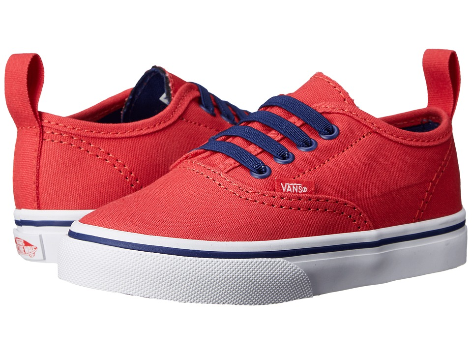 Vans Kids - Authentic V Lace (Toddler) (Bittersweet/Blueprint) Girls Shoes