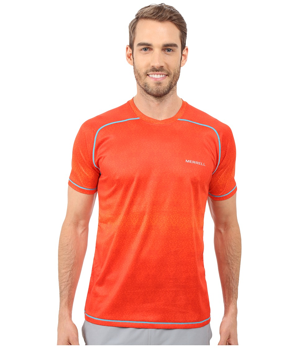 Merrell - Ascendancy Printed Tee (Red Pepper Print) Men's T Shirt