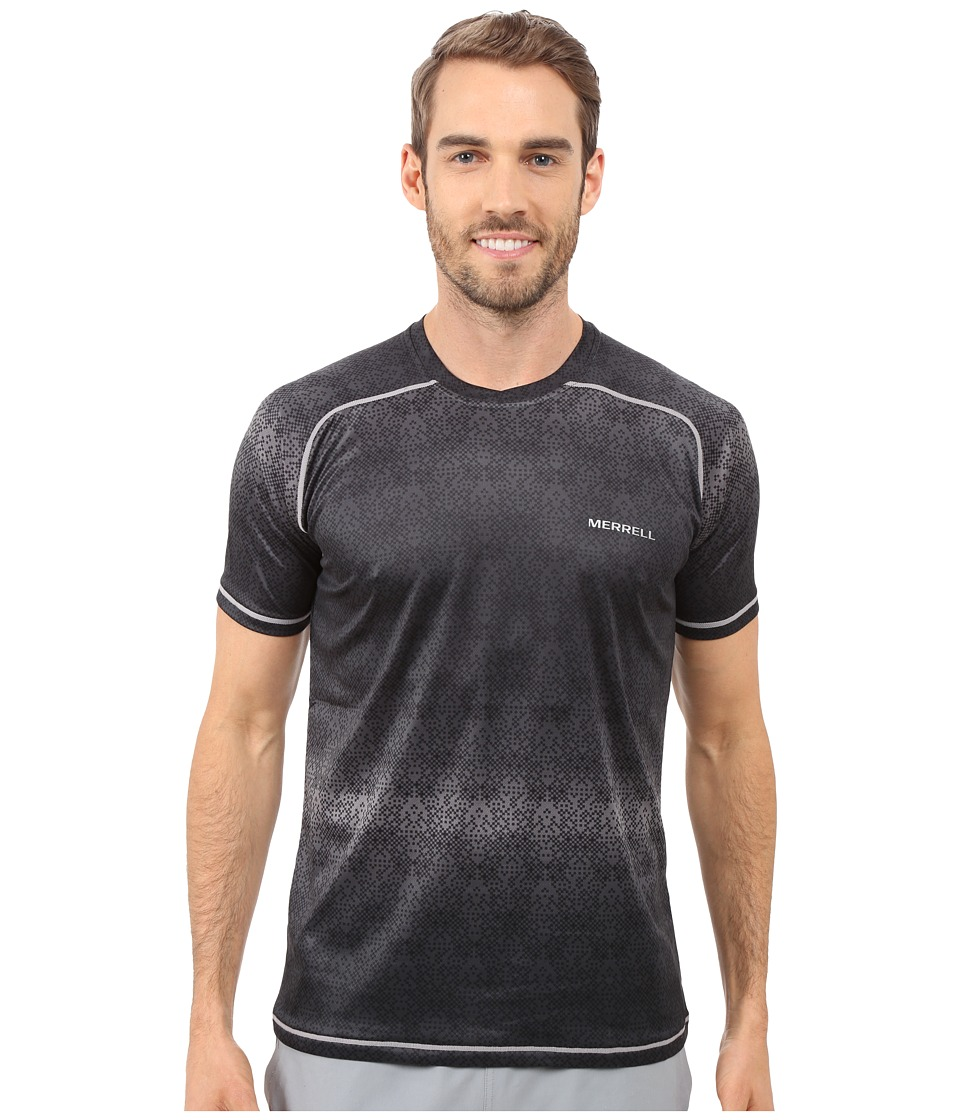 Merrell - Ascendancy Printed Tee (Black Print) Men's T Shirt