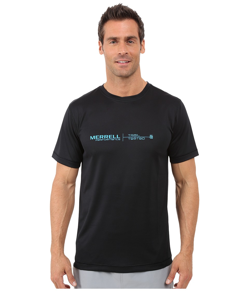 Merrell - Speed Logo Tech Tee (Black) Men's T Shirt