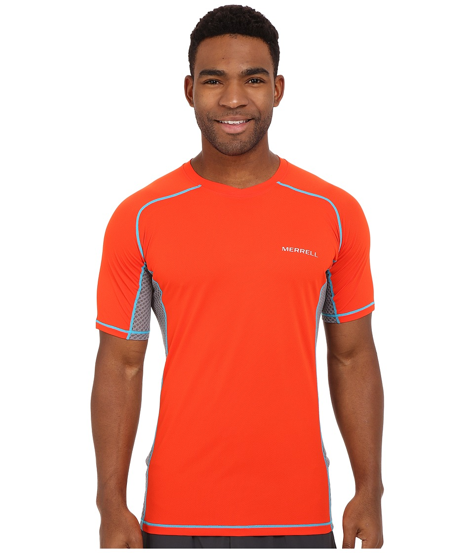 Merrell - Elevated Tee (Red Pepper) Men's Short Sleeve Pullover