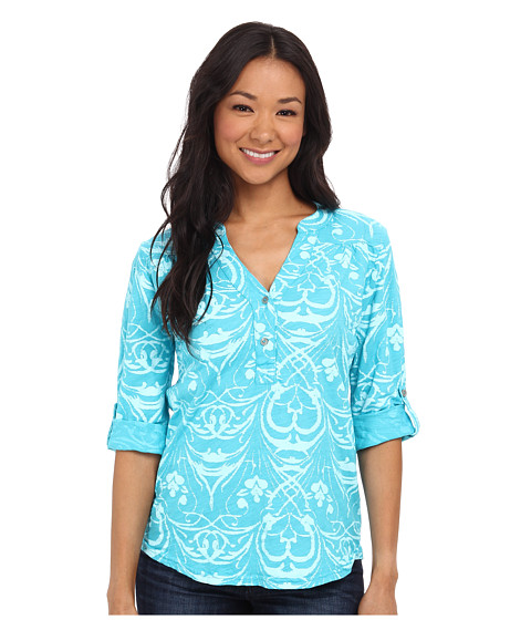 Fresh Produce - Riviera Dockside Henley (Luna) Women's Blouse