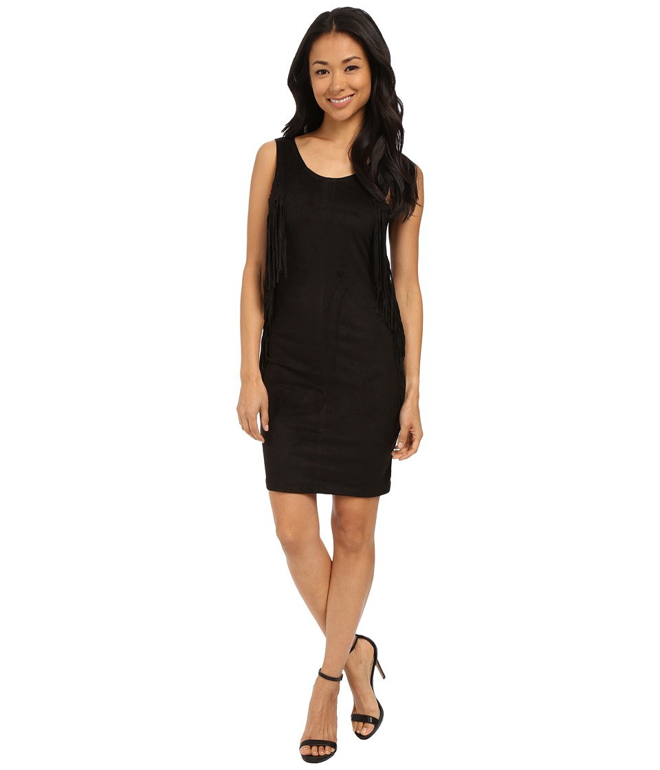 ONLY - Fringe Short Dress (Black) Women's Dress