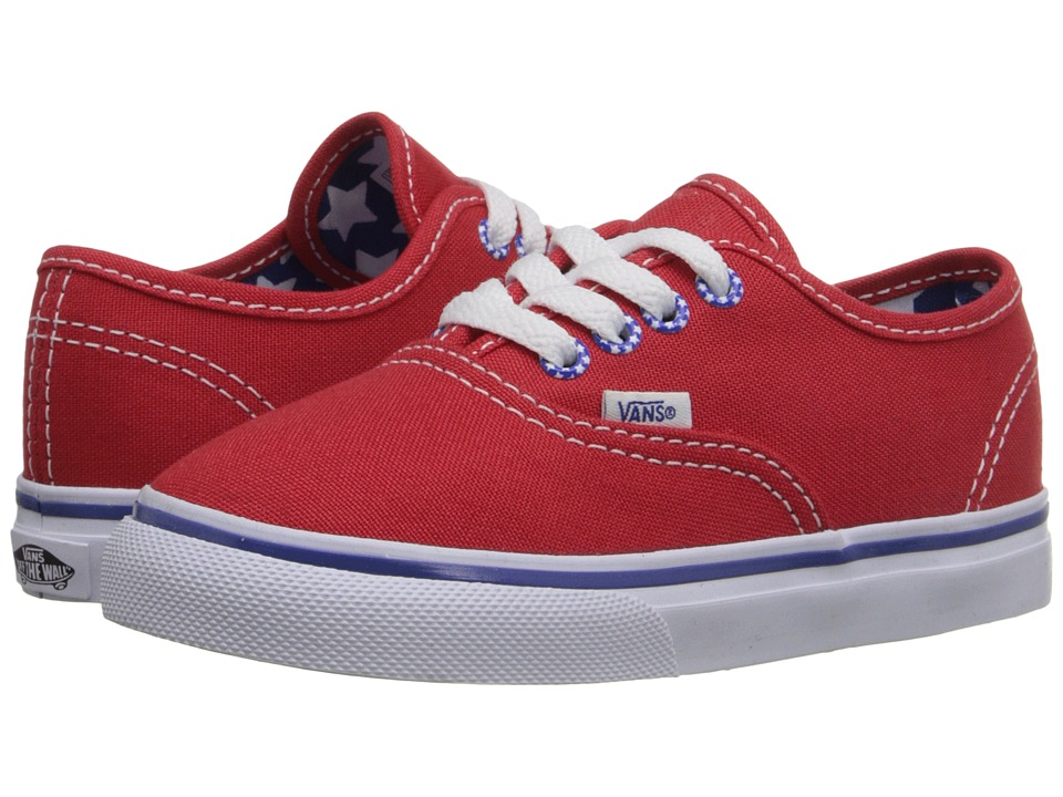 Vans Kids - Authentic (Toddler) ((Star Eyelet) High Risk Red) Girls Shoes