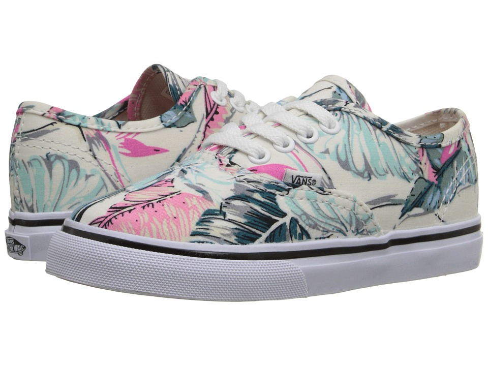 Vans Kids - Authentic (Toddler) ((Tropical) Multi/True White) Girls Shoes