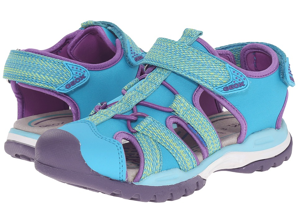 Geox Kids - Jr Borealis Girl 2 (Little Kid/Big Kid) (Watersea) Girls Shoes