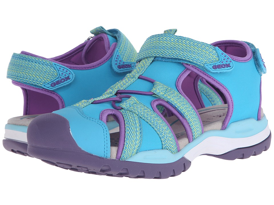 Geox Kids - Jr Borealis Girl 2 (Big Kid) (Watersea) Girls Shoes