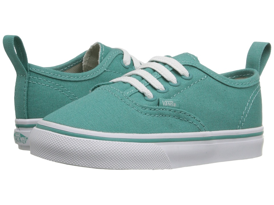 Vans Kids - Authentic V Lace (Toddler) (Sea Blue/True White) Girls Shoes