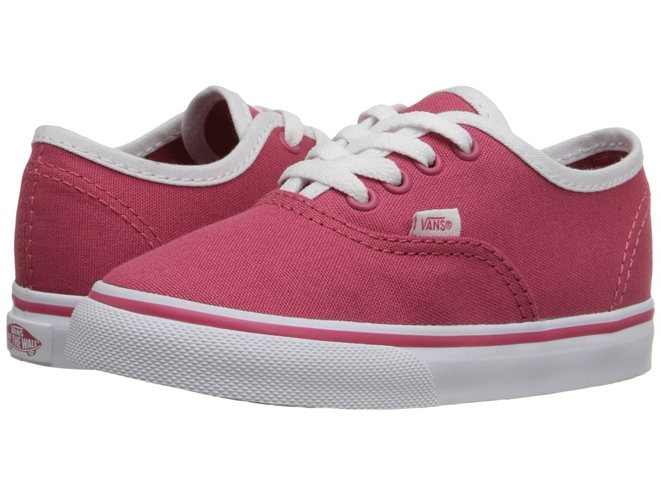 Vans Kids - Authentic (Toddler) ((Pop Binding) Claret Red/True White) Girls Shoes