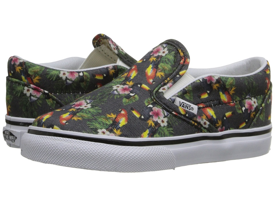 Vans Kids - Classic Slip-On (Toddler) ((Chambray) Parrot/True White) Girls Shoes