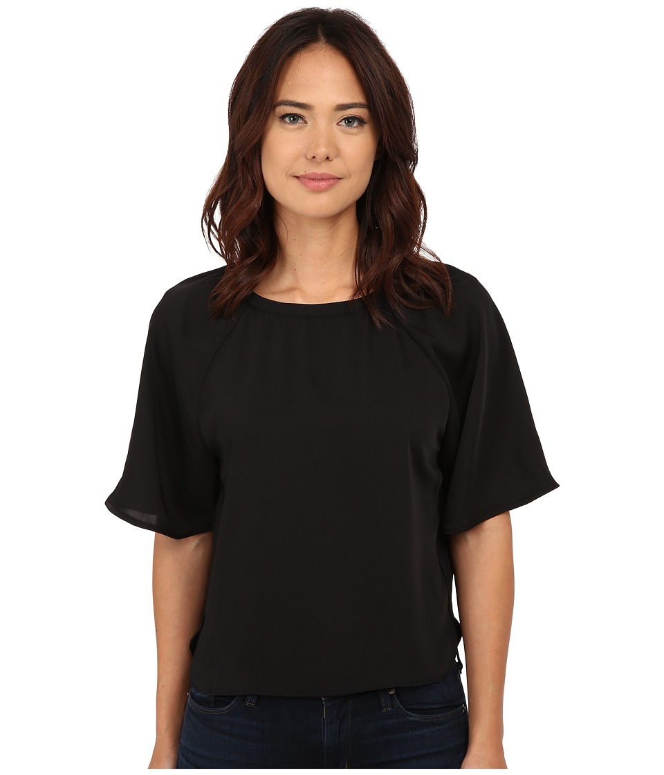 ONLY - Mindy 2/4 Sleeve Blouse (Black All Over Print) Women's Blouse
