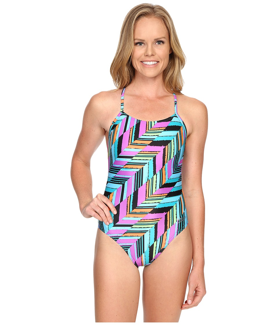 Speedo - Angles Free Back One-Piece (Mystic Teal) Women's Swimsuits One Piece