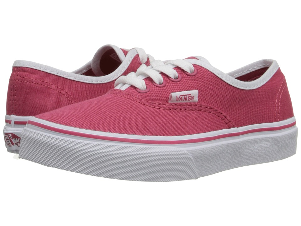 Vans Kids - Authentic (Little Kid/Big Kid) ((Pop Binding) Claret Red/True White) Girls Shoes