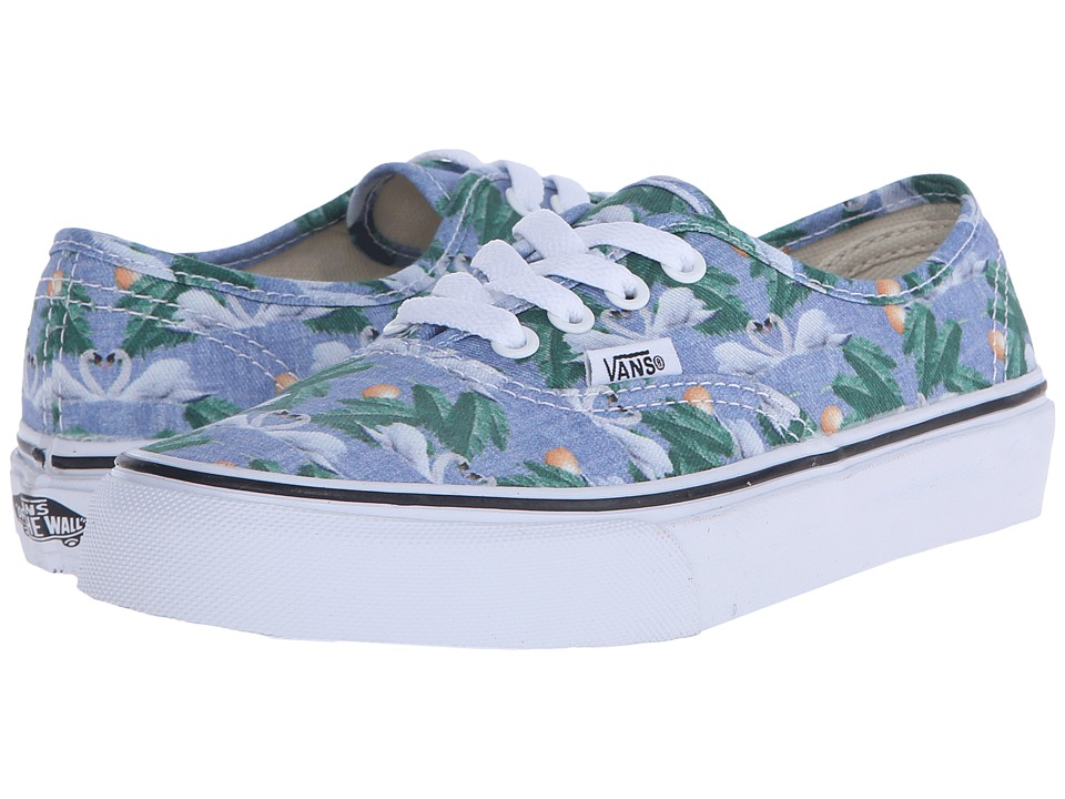 Vans Kids - Authentic (Little Kid/Big Kid) ((Chambray) Swan/True White) Girls Shoes