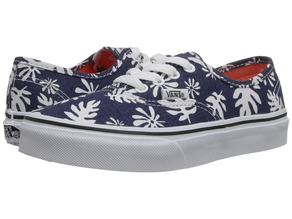 Vans Kids - Authentic (Little Kid/Big Kid) ((Washed Kelp) Navy/White) Girls Shoes