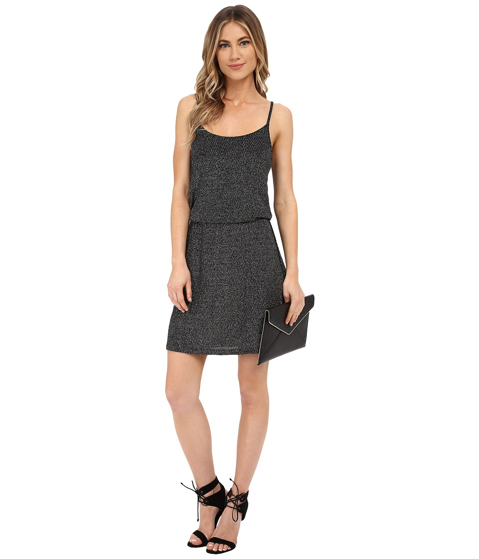 ONLY - Carla Party Dress (Black w/ Silver Lurex) Women's Dress