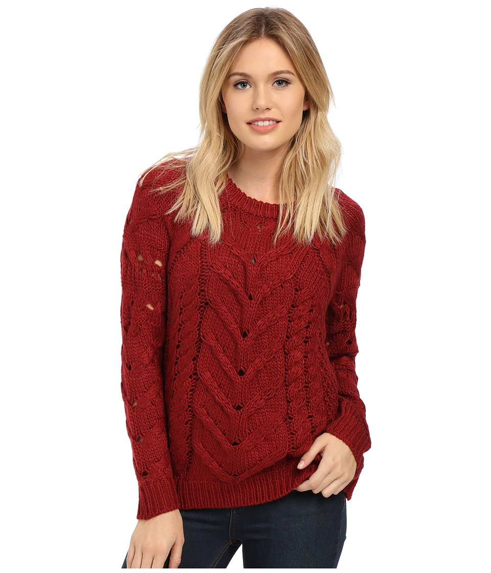 ONLY - Elia Pullover Knit Sweater (Biking Red) Women's Sweater
