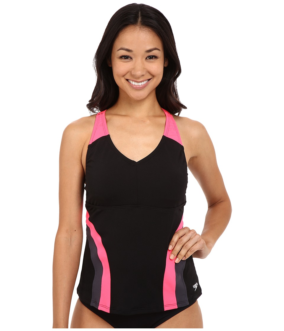 Speedo - Flow Active Tankini Top (Party Pink) Women's Swimwear