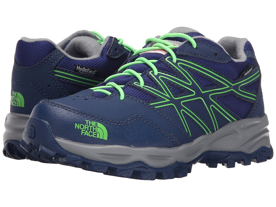 The North Face Kids - Jr Hedgehog Hiker WP(Little Kid/Big Kid) (Marker Blue/Electric Mint Green) Boys Shoes