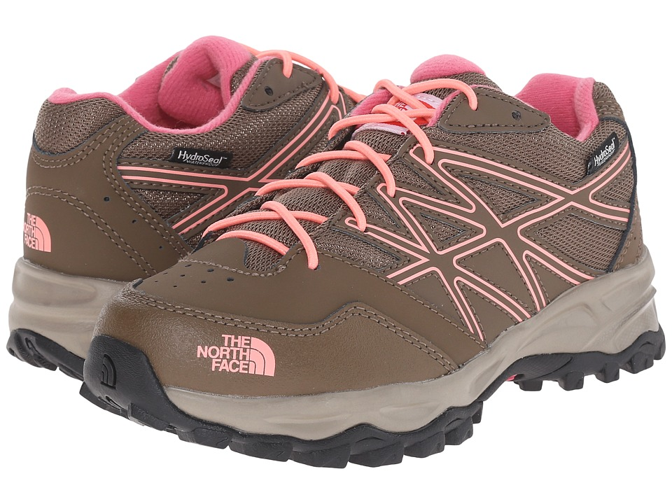 The North Face Kids - Jr Hedgehog Hiker WP (Little Kid/Big Kid) (Cub Brown/Neon Peach) Girls Shoes