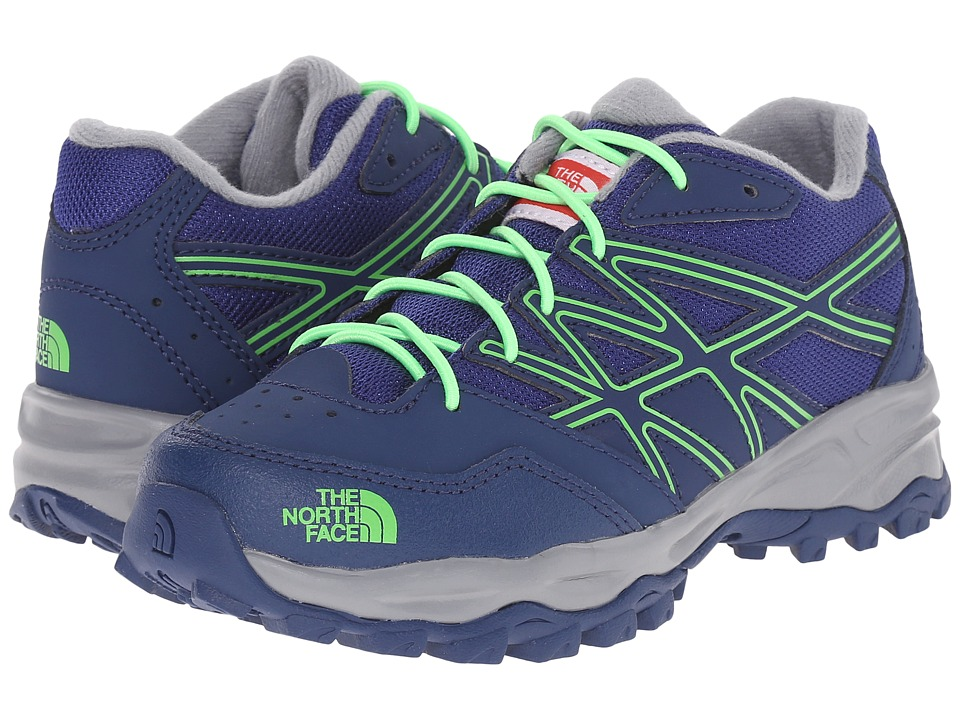 The North Face Kids - Jr Hedgehog Hiker(Little Kid/Big Kid) (Marker Blue/Electric Mint Green) Boys Shoes