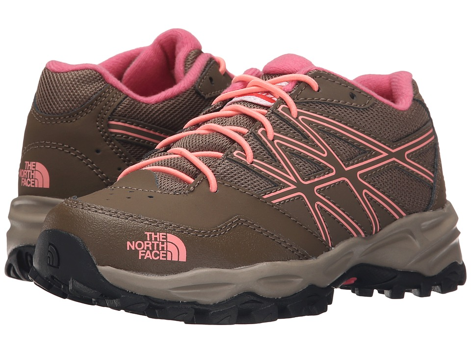 The North Face Kids - Jr Hedgehog Hiker(Little Kid/Big Kid) (Cub Brown/Neon Peach) Girls Shoes