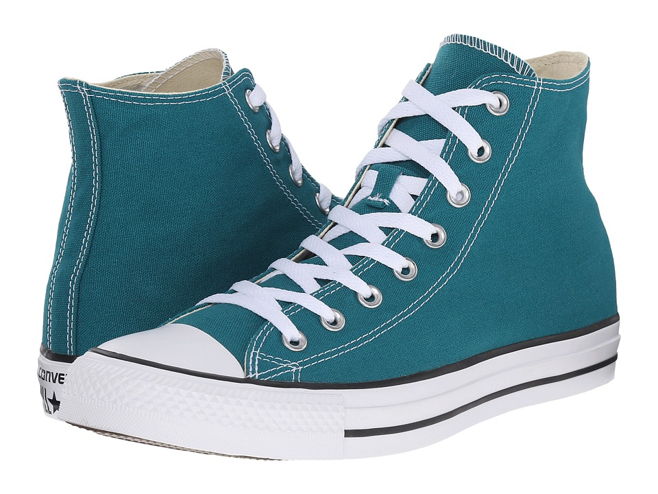 Converse - Chuck Taylor All Star Seasonal Hi (Rebel Teal/White/Black) Classic Shoes