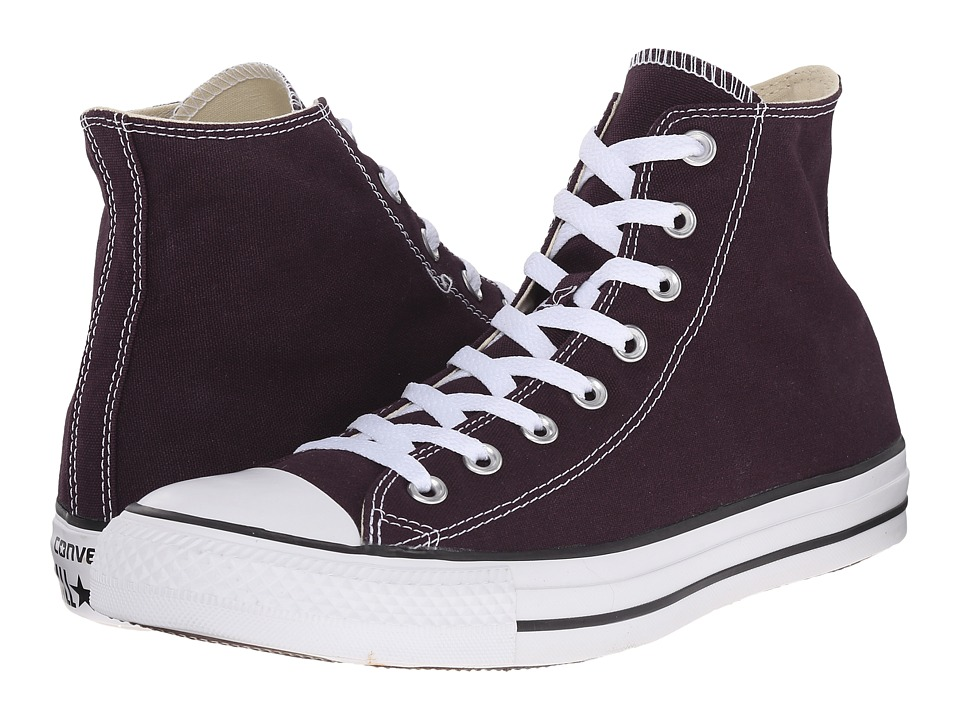 Converse - Chuck Taylor All Star Seasonal Hi (Black Cherry/White/Black) Classic Shoes