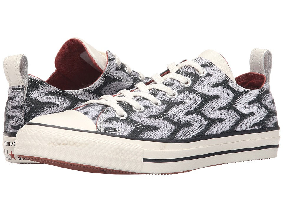 Converse - Chuck Taylor All Star Ox Missoni (Black/Auburn/Egret) Lace up casual Shoes