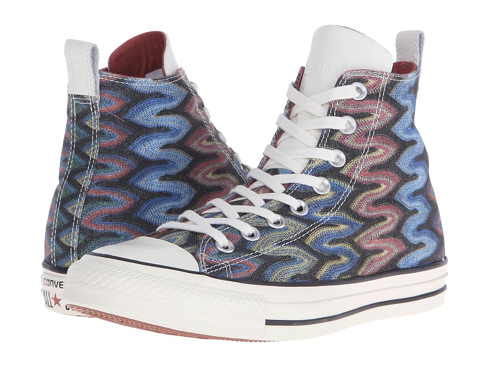 Converse - Chuck Taylor All Star Hi Missoni (Auburn/Black/Egret) Lace up casual Shoes