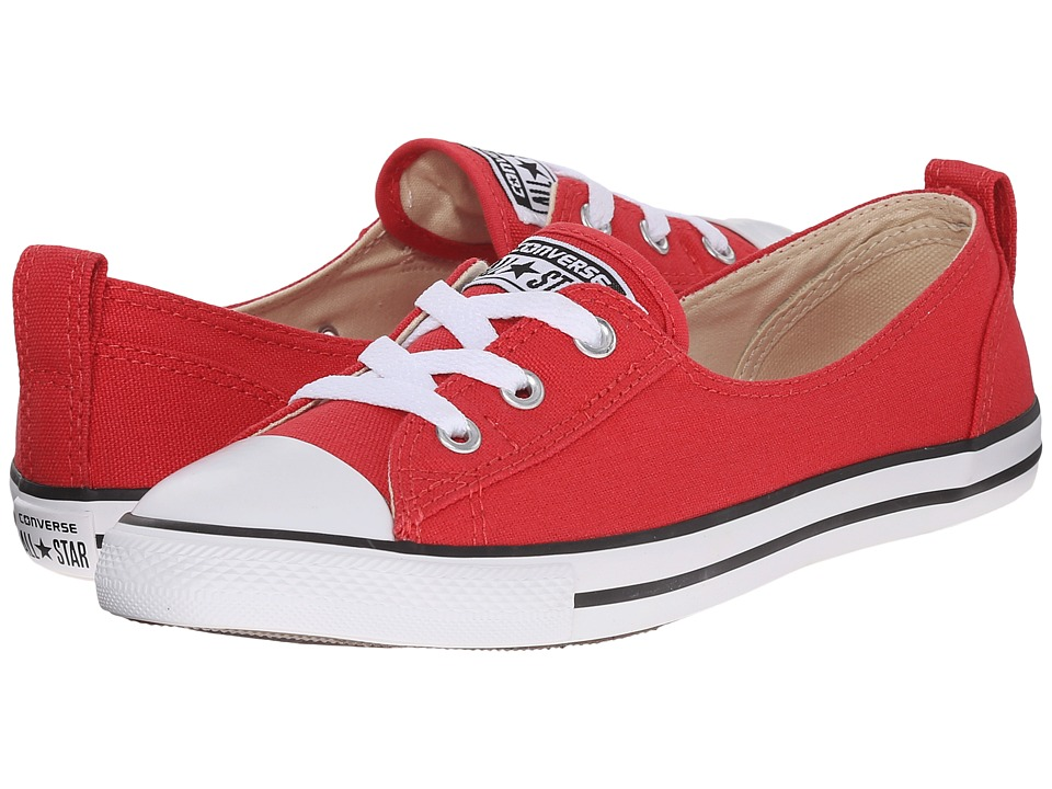 Converse - Chuck Taylor All Star Fashion Basics Ballet Lace (Brake Light/Black/White) Women's Lace up casual Shoes