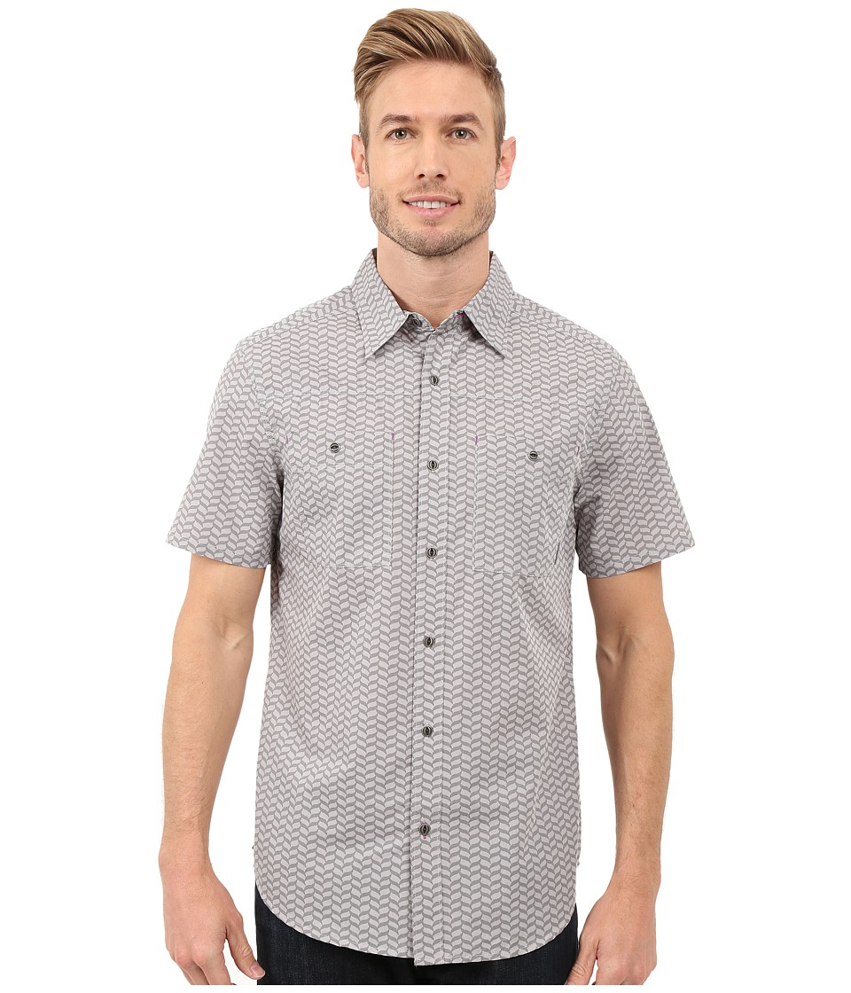 Merrell - Palm Rope Print Shirt (Sidewalk Print) Men's Short Sleeve Button Up