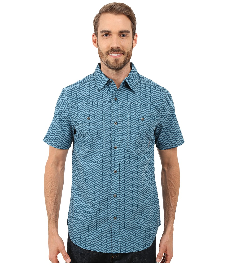 Merrell - Palm Rope Print Shirt (Legion Blue Print) Men's Short Sleeve Button Up