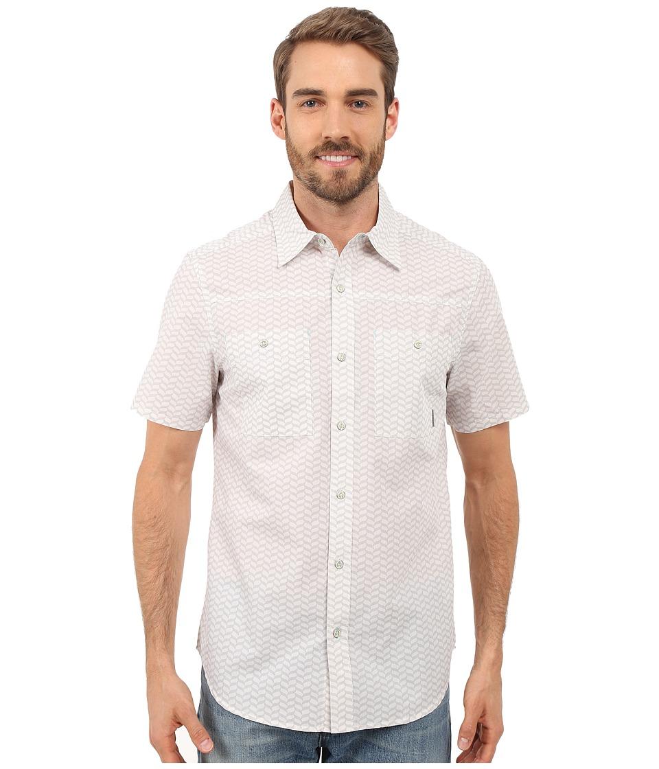 Merrell - Palm Rope Print Shirt (Vapor Blue Print) Men's Short Sleeve Button Up
