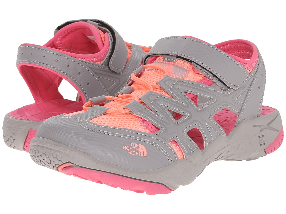 The North Face Kids - Hedgehog Sandal (Toddler/Little Kid/Big Kid) (Silver Grey/Cha Cha Pink) Girls Shoes