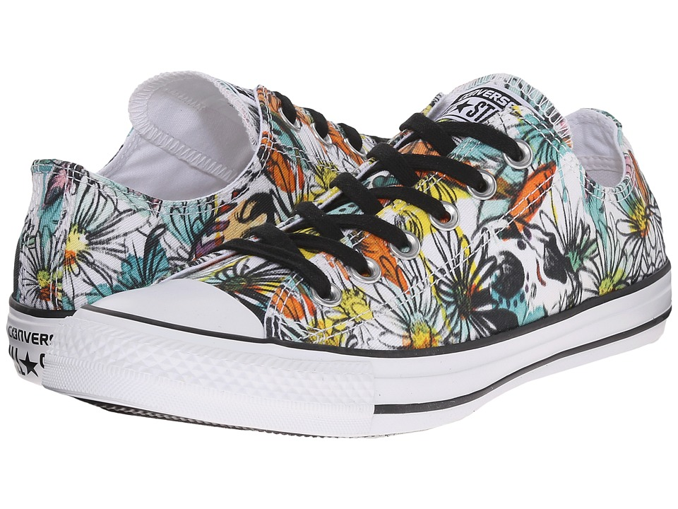 Converse - Chuck Taylor All Star Ox Daisy Print (Black/Rebel Teal/White) Women's Lace up casual Shoes
