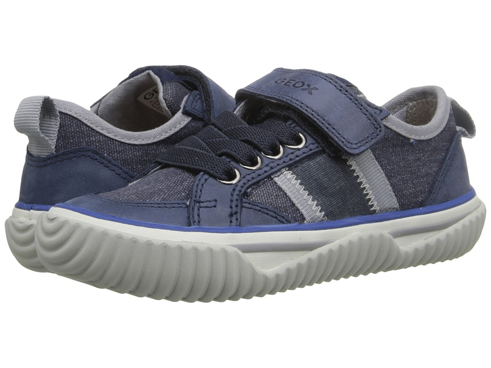 Geox Kids - Jr Australis Boy 3 (Toddler/Little Kid) (Navy/Grey) Boy's Shoes
